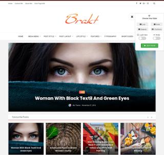 Brakt Blogger Template Free Download |