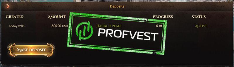 Депозит в Crypto Harbor