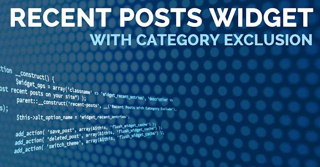Cara Pasang Recent Posts agar Loading menjadi cepat di Sidebar Blog