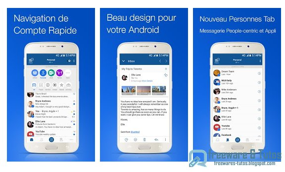 BlueMail : une application Android gratuite de messagerie multi-comptes