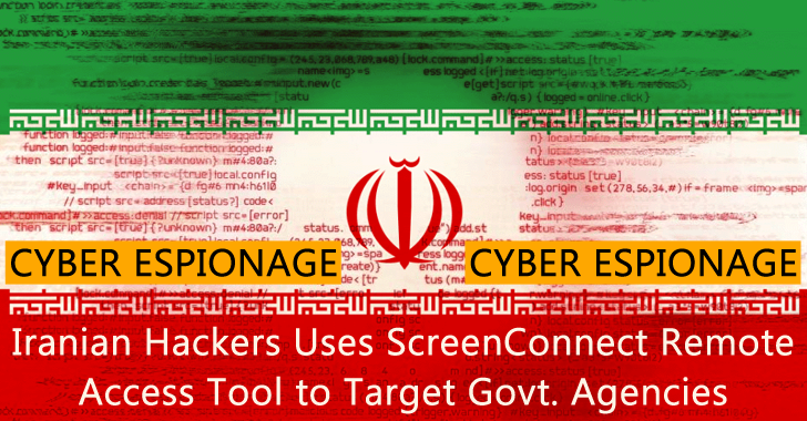 Iranian Hackers Uses ScreenConnect Remote Access Tool to Target Government Agencies