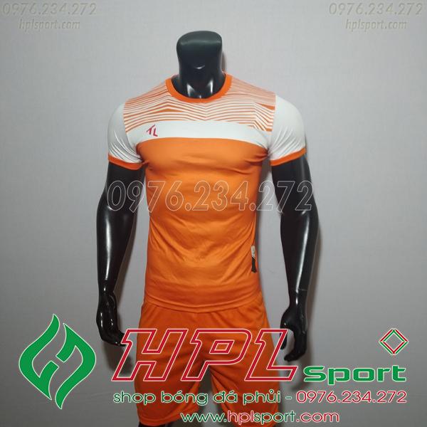 Áo bóng đá không logo TL HML Riyad màu cam