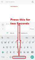 how to change default keyboard on android