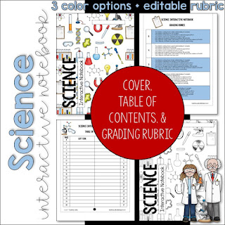 https://www.teacherspayteachers.com/Product/SCIENCE-Interactive-Notebook-Cover-Grading-Rubric-and-Table-of-Contents-3172598