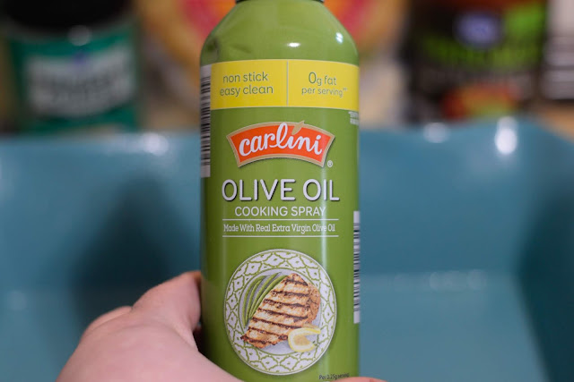 A can of olive oil cooking spray.