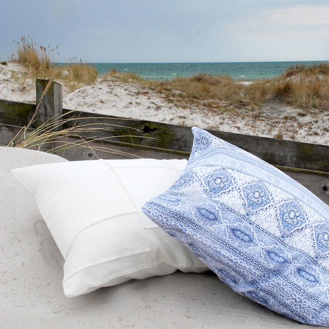Kuddfodral för en strandnära, somrig stil!