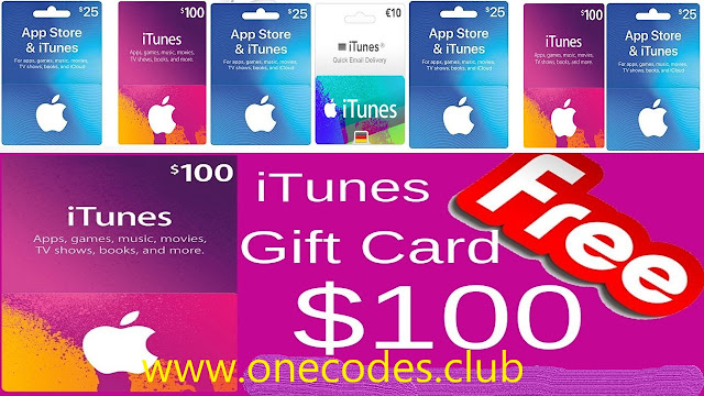 Get free iTunes Gift Card code and redeem for anything in the iTunes