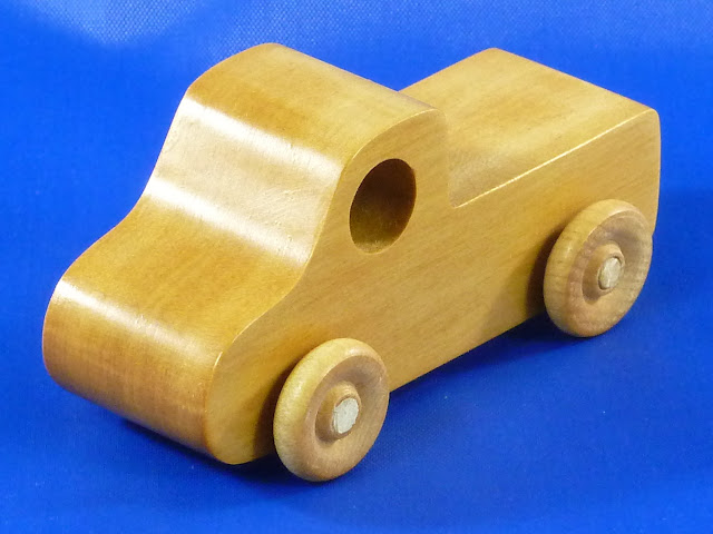 Left Front - Handmade Wooden Toy Truck - Play Pal - Pickup Truck