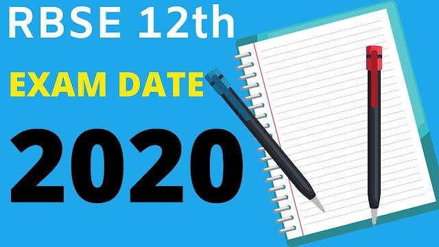 RBSE 12th Board Exam Date