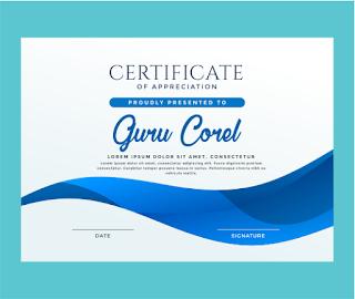 sertifikat kegiatan Cdr, template sertifikat cdr keren