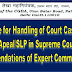 MoD | Procedure for Handling of Court Cases, Filing of Apeal/SLP in Supreme Court : Recommendations of Expert Committee - reg.