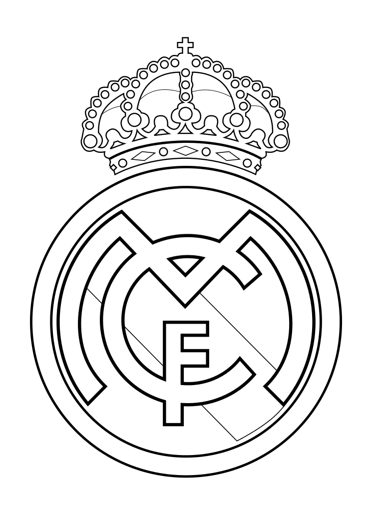 Free real madrid coloring pages