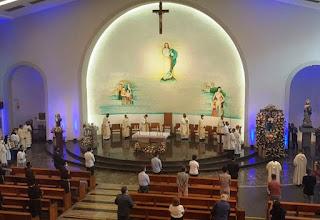 Devido a pandemia, missa da 1ª festa no dia da Santa Dulce dos Pobres tem poucas pessoas