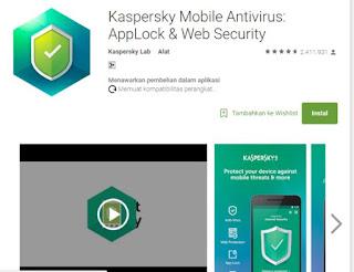 Aplikasi Anti Virus Android Paling Ampuh Nomor 3 Kaspersky