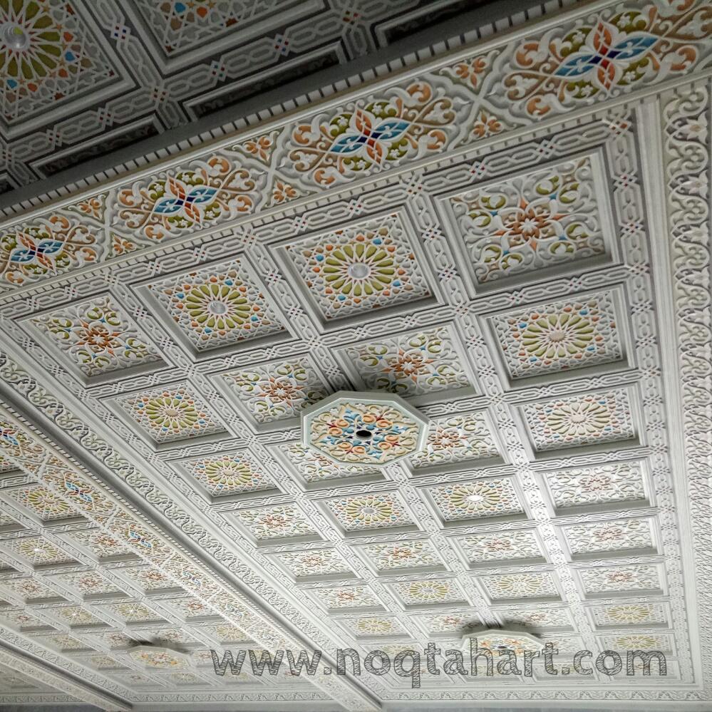 ornamen plafon relief