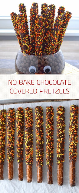 NO BAKE CHOCOLATE COVERED PRETZELS