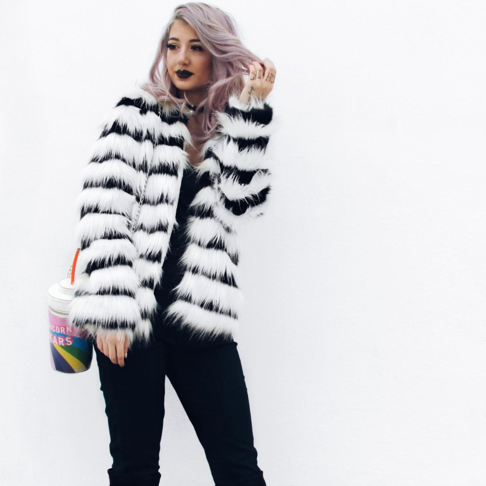 faux fur outfits pinterest