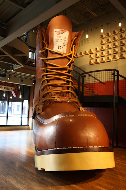 The World's Largest Boot in Red Wing, Minnesota