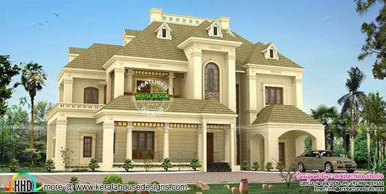 5500 sq-ft Colonial architecture home