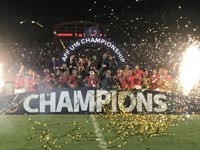 Timnas Indonesia Juara Piala AFF U-16 2018 Tanpa Terkalahkan