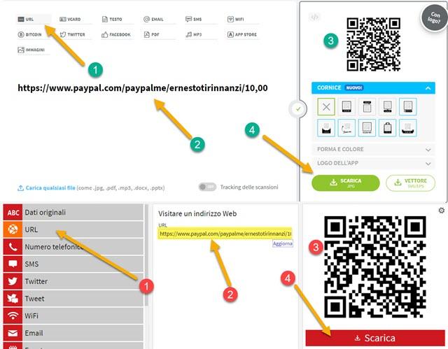 creare codice QR con app online