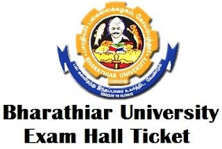 Bharathiar University Distance Education Hall Tickets 2017
