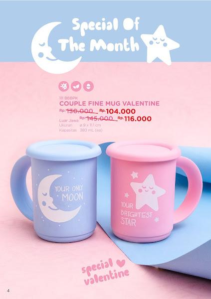 Promo Diskon, Couple Fine Mug Valentine, Tulipware Februari 2020