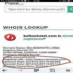 Pembelian domain balkonhotel.com