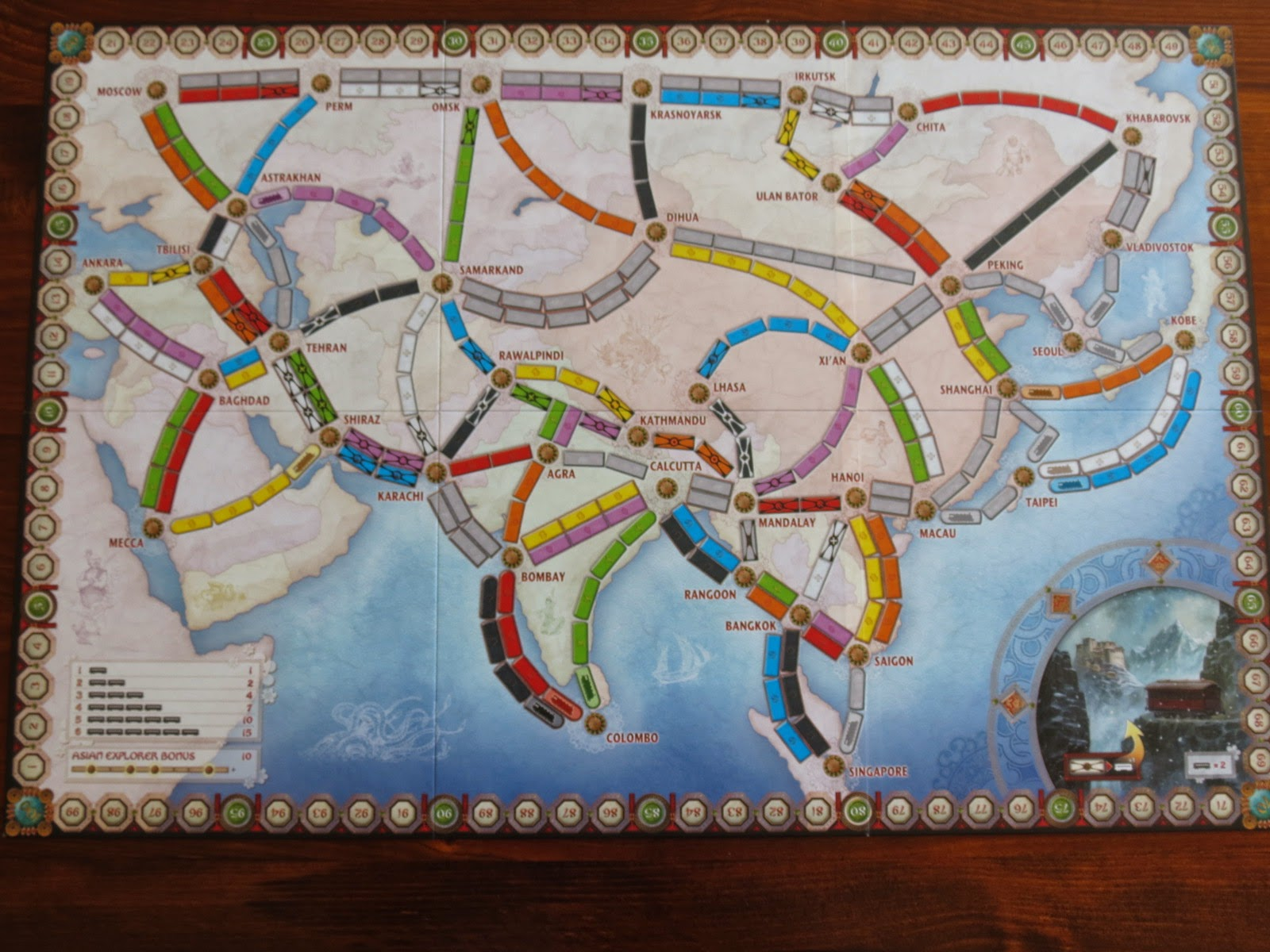 Ticket To Ride Asia Map.Mark S Wargaming And Boardgaming Blog Ticket To Ride Africa And