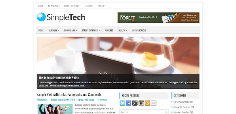 SimpleTech Free Blogger Template