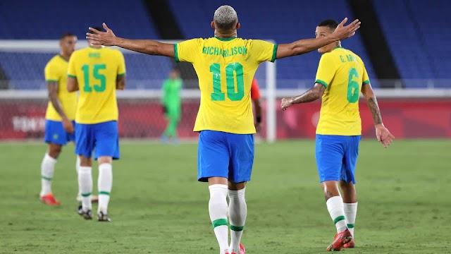 Apesar do susto, Richarlison marca três e Brasil vence Alemanha na estreia, confira