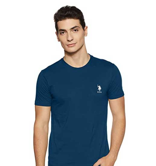 US Polo Association Men's Solid Regular Fit T-Shirt