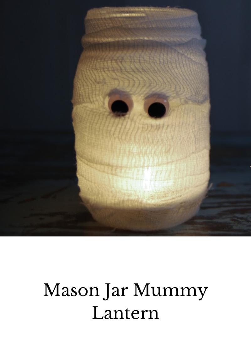 mason jar mummy lantern