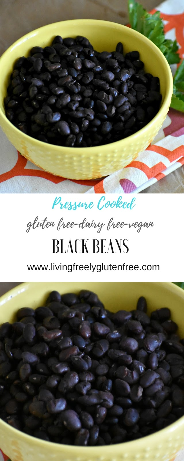 Pressure Cooked Black Beans - Living Freely Gluten Free