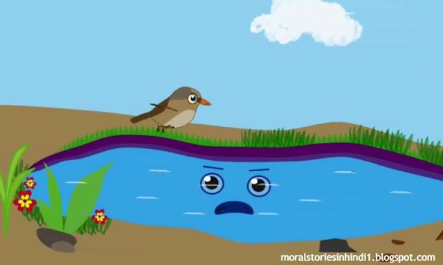 Hungry Bird | Moral story | Hindi Kahaniya