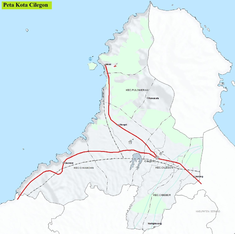 Peta Kota Cilegon HD