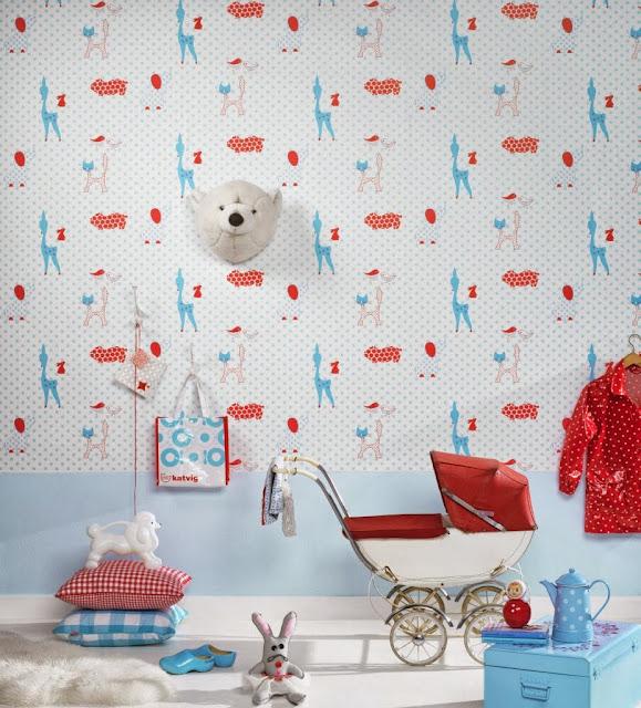 Modern Nursery Wallpaper: Www.willowandme.co.uk: Scandinavian Nursery Design Ideas