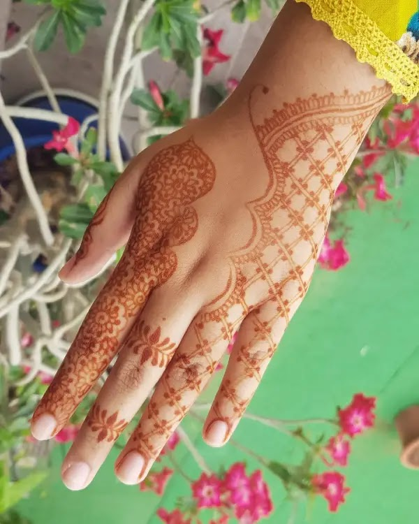 Simple_flowers_with_net_henna_design