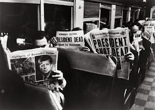 Kennedy assassination newspaper headlines