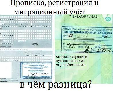 В чём разница между пропиской, регистрацией и миграционным учётом?