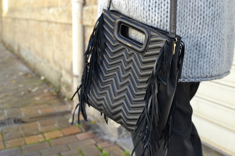 sac M maje matelassé noir