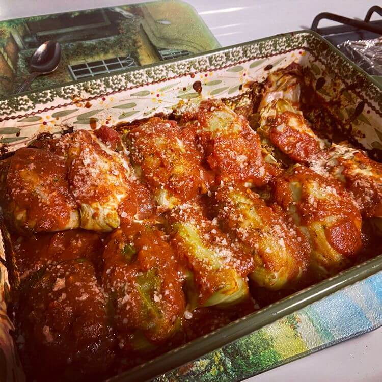 Easy Stuffed cabbage rolls with meat