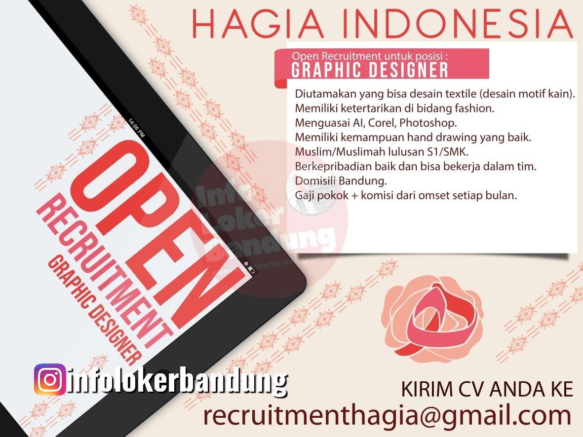 Lowongan Kerja Design Grafis Hagia Indonesia Bandung Maret 2020