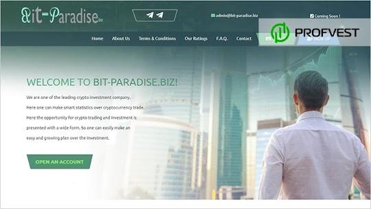🥇Bit-paradise.biz обзор и отзывы [Кэшбэк 5% + Страховка 500$]