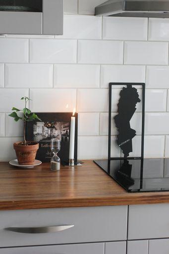 annelies design, webbutik, nätbutik, inredning, dekoration, kök, grytunderlägg, underlägg,ljusstake, mässing, timglas, square, diskbänk, diskbänken, detaljer