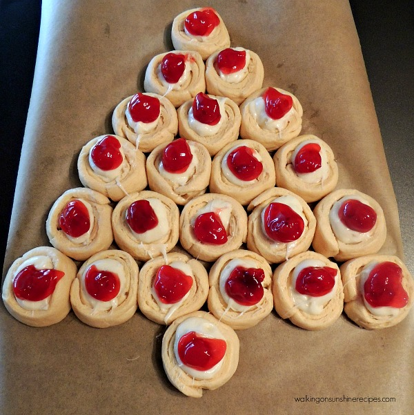 Christmas Tree Danish ready for the oven from Walking on Sunshine Recipes