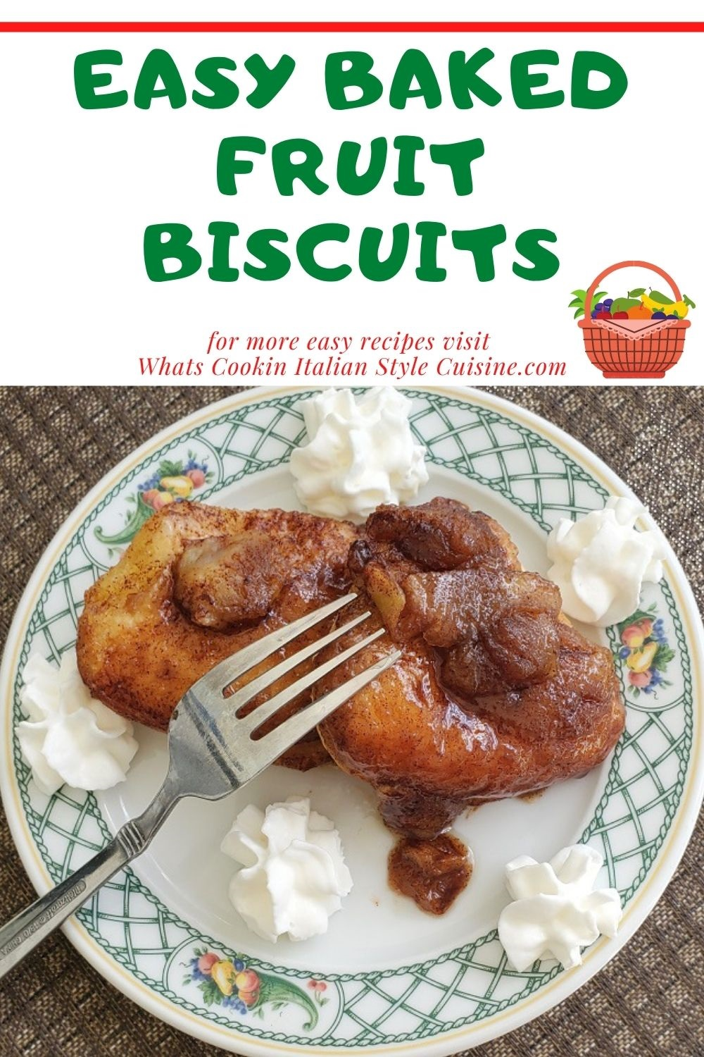 this is a pin on how to make easy baked fruit biscuits