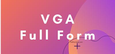 VGA full meaning