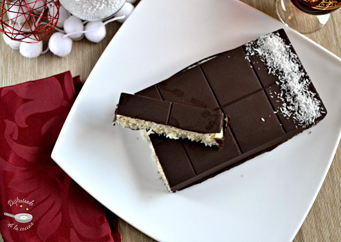Turrón de chocolate y coco (Postre fácil)