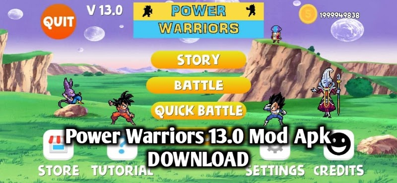 Power Warriors 13.0 Mod Apk Download with all Characters Unlock